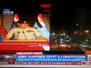 Egypt's Army declares Morsi out of power