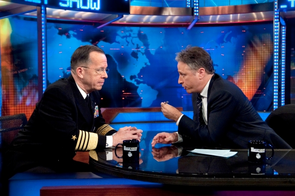 Jon Stewart and Admiral Mike Mullen
